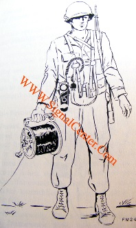 soldier dispensing wire with DR-8-B with rl-39-Breeling equipment